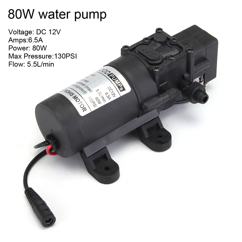 DC 12V 80W High Pressure Electric Washer Cleaning Washing Gun Water Pump Set