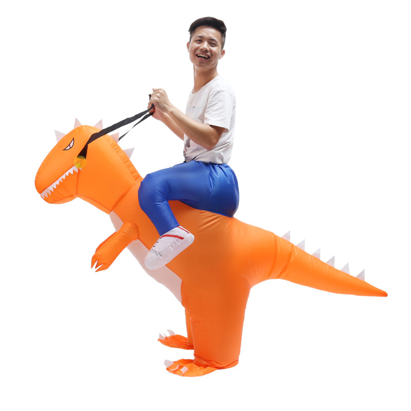 Inflatable Toys Costume Adult T-Rex Dinosaur Suit Blowup Dragon Ride Outfit