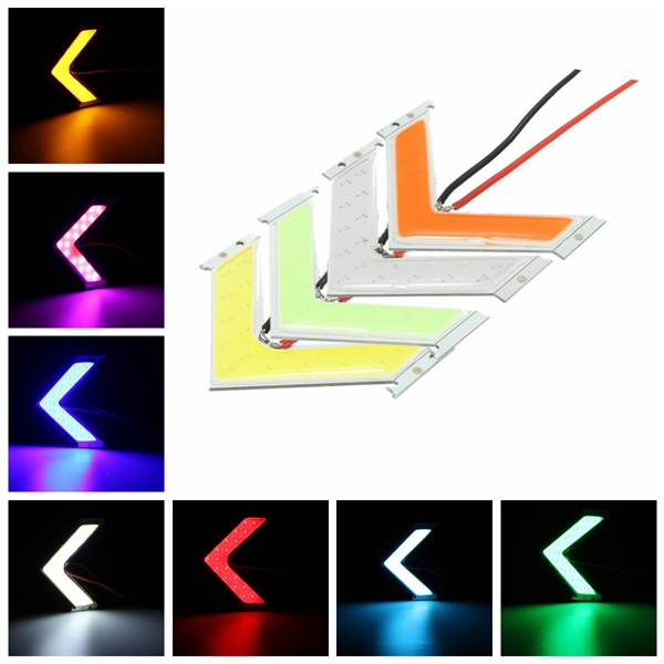 Multi-color LED COB Arrow Panels Car Side Mirror Turn Signal Indicator Light