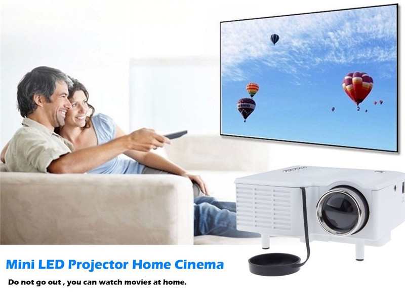 UC28+ Mini Portable LED Projector 48 Lumens 320 x 240 Native Resolution 16:9 Aspect Ratio