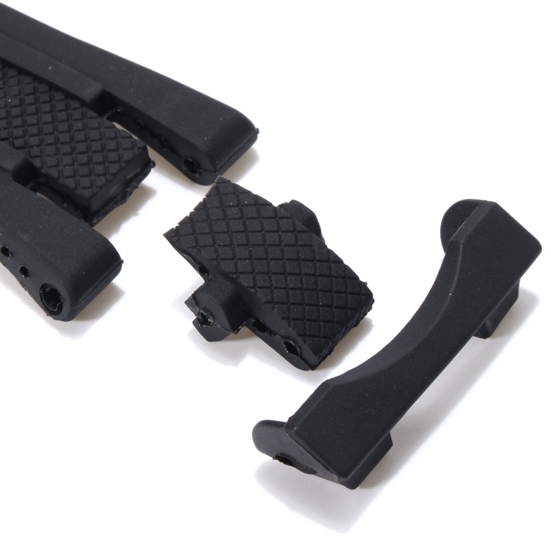 Replaceable Black Silicone Rubber Watch Band