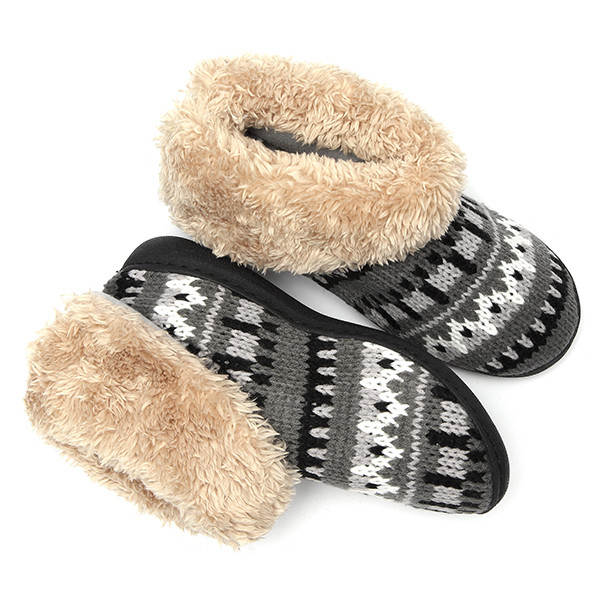 Winter Women Snow Boots Home Shoes Plush Cotton Keep Warm Casual Flats