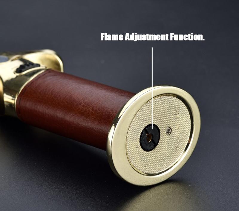 IPRee® Outdoor Metal Lighter Butane Refillable Soft Windproof Lighter Mini Flame Torch
