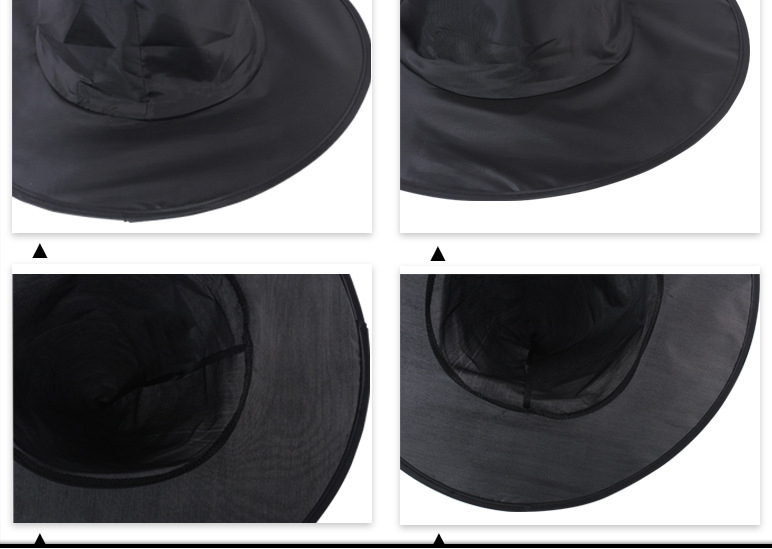 Halloween Steeple Magic Hat Cool Black Witch Hat Oxford Costume Party Props Potters Cap