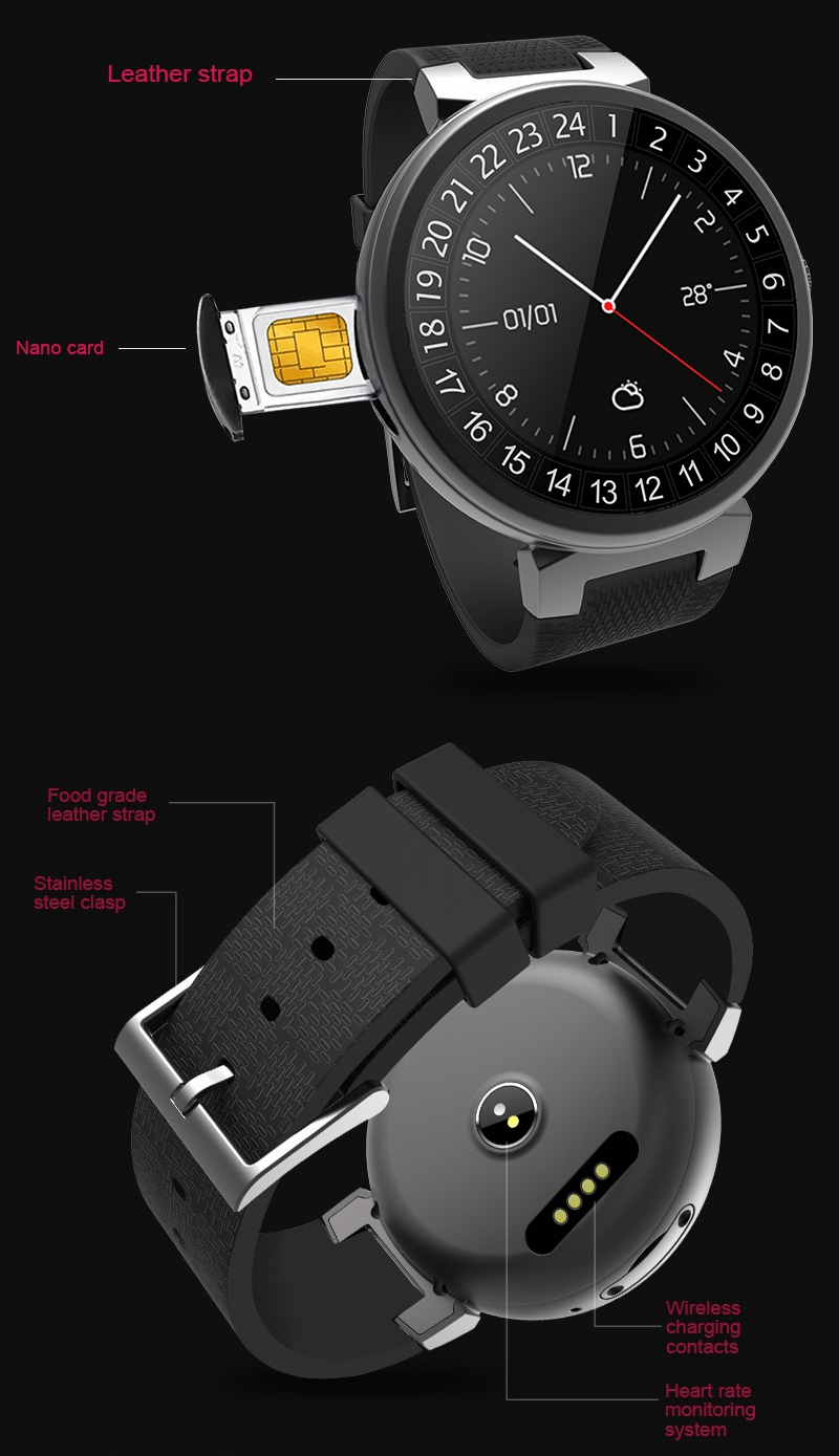 WAITIME™ I6 2G+16G Watch Phone 3G WIFI GPS Sport Multi-modes Business Smart Watch Phone