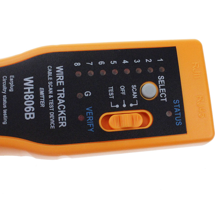 WH806B Telephone Wire Tracker Network Cable Tester Electrical Line Finding Testing for Cat5 Cat5E Cat6 RJ45 RJ11