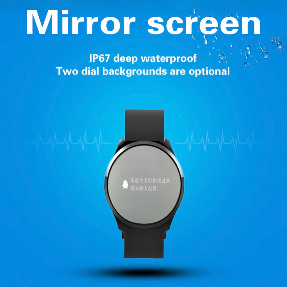 Bakeey L5 Round Mirror Screen bluetooth Pedometer Bracelet Smart Wristband for Mobile Phone