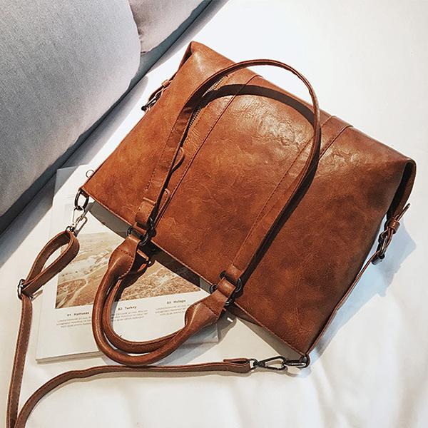Women Vintage Crossbody Shoulder Bag Casual Soft Tote Bag