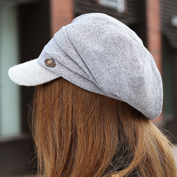 Women Thicken Warm Solid Beret Cap