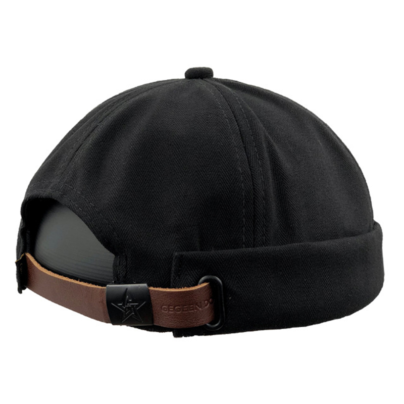 Men Retro Cotton Adjustable Brimless Hat Skullcap