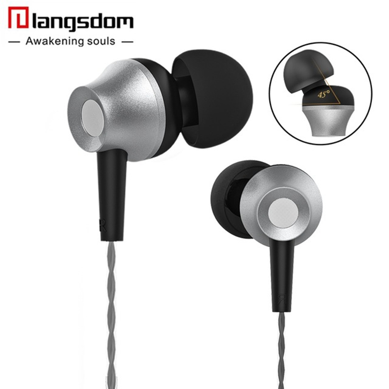 Langsdom M299 Metal 3.5mm Jack In-ear Earphone Headphone with Mic for iPhone Samsung Xiaomi Huawei