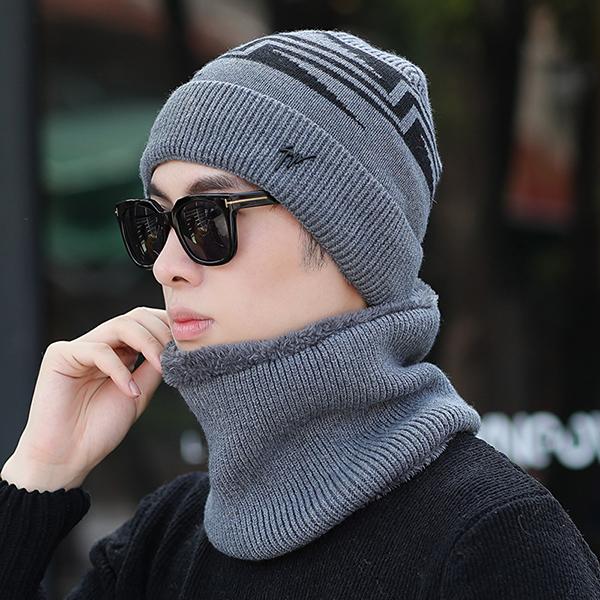 Mens Winter Warm Knit Woolen Face Mask Hat Beanie Cap