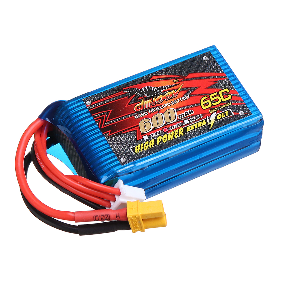 DINOGY 11.1V 600mAh 65C 3S Lipo Battery XT30 Plug for RC Racing Drone