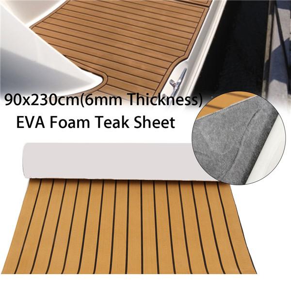 90x230cm Self-Adhesive EVA 6mm Faux Foam Teak Sheet Boat Decking