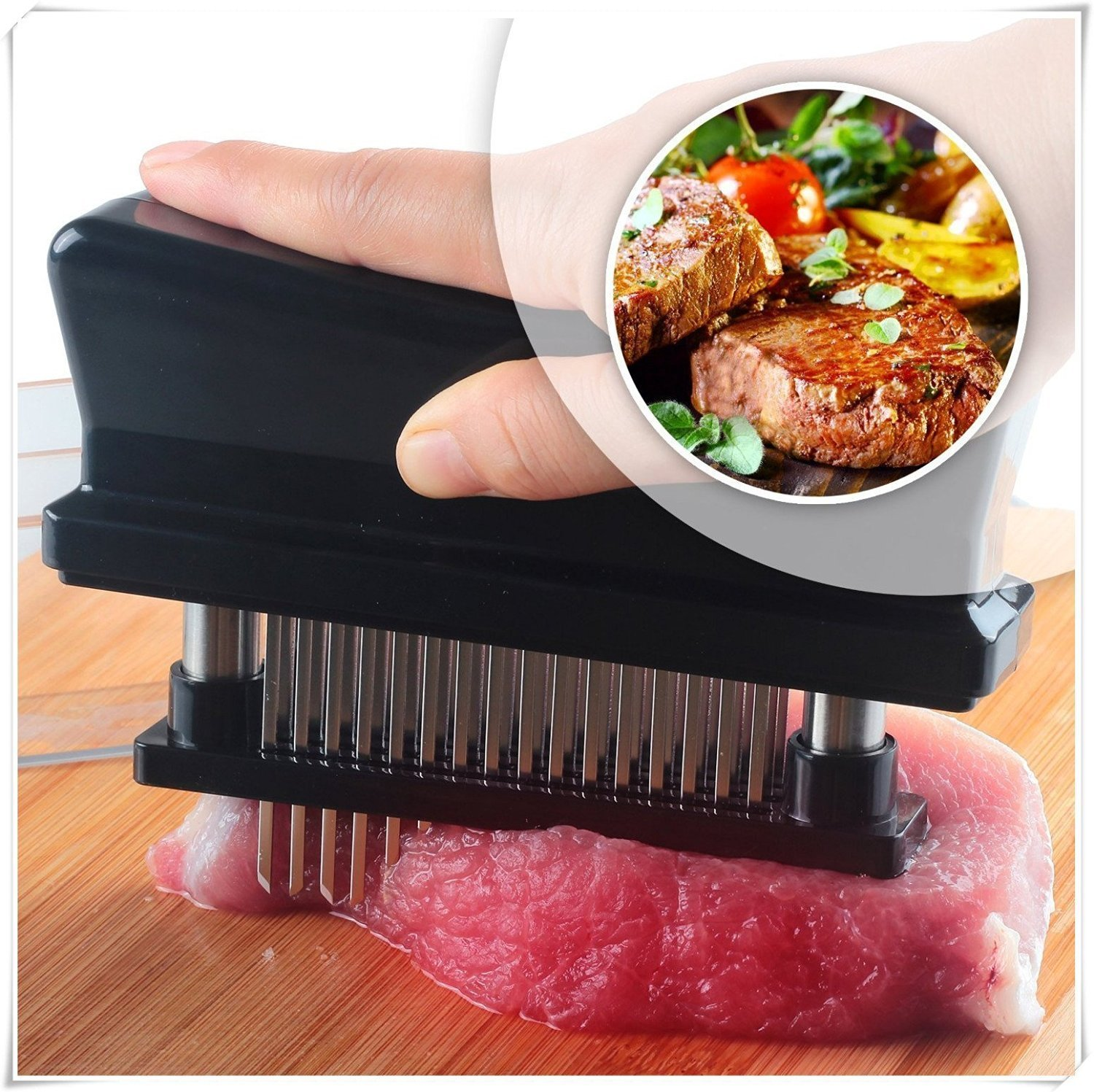 KCASA KC-MH06 Stainless Steel 48-blade Loose Meat Machine Steak Meat Tenderiser Needle Kitchen Tools
