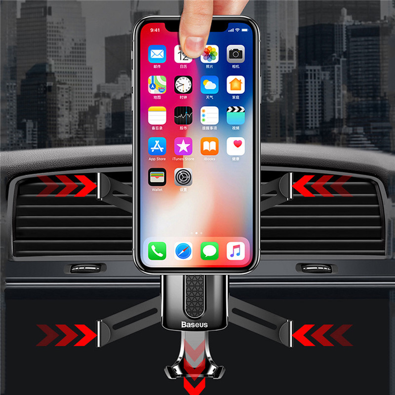 Baseus Spider Man Gravity Auto Lock Car Air Vent Phone Holder Stand for iPhone X Xiaomi Mobile Phone