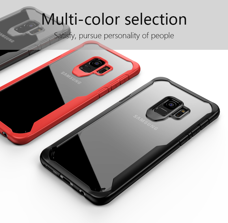 Bakeey Airbag Acrylic Transparent TPU Case for Samsung Galaxy S9/S9Plus