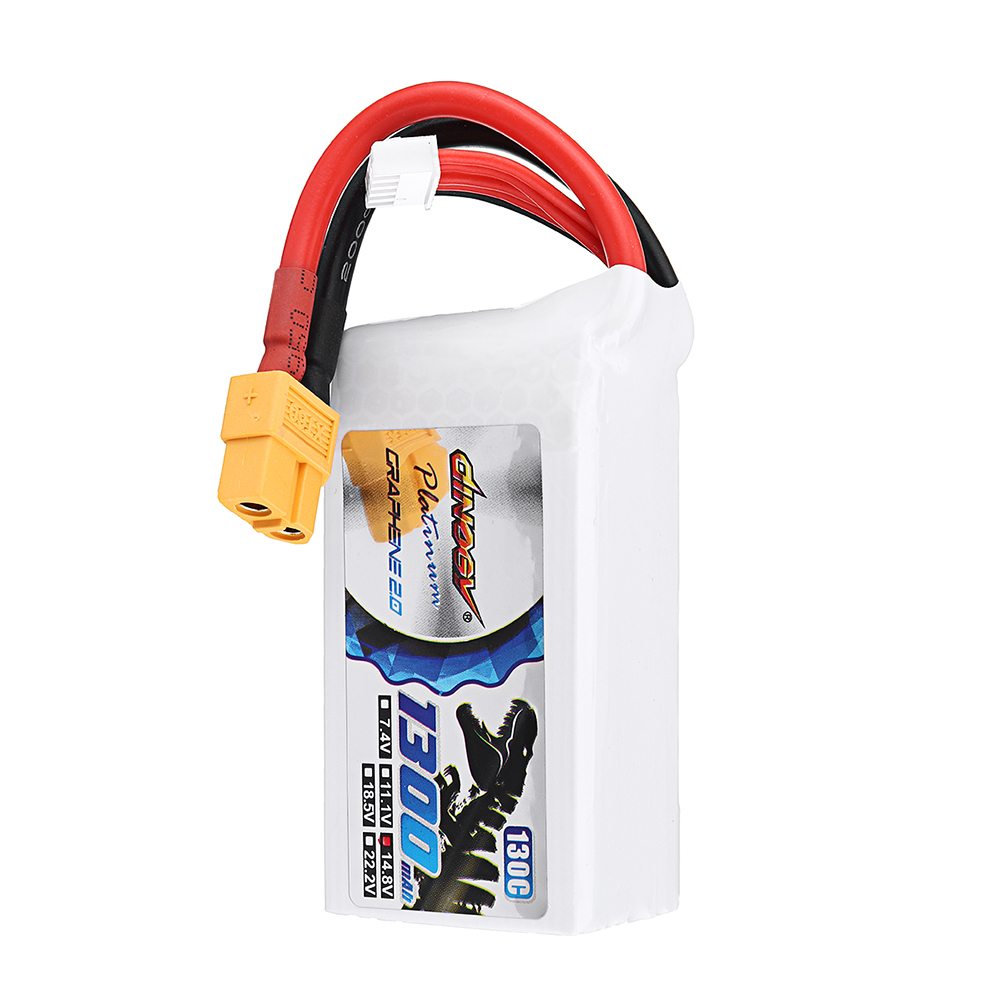 DINOGY ULTRA GRAPHENE 2.0 14.8V 1300mAh 130C 4S Lipo Battery XT60 Plug for FPV RC Drone - Photo: 6