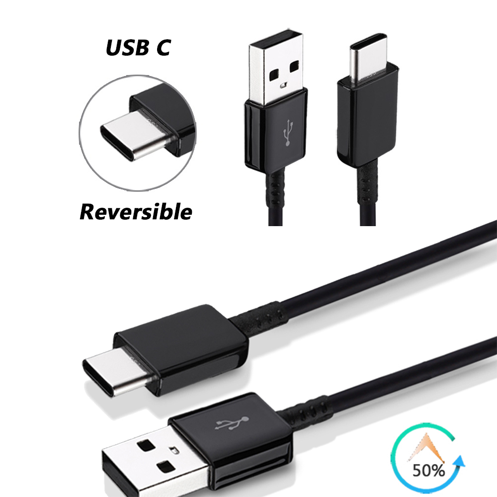 Type C Fast Data Sync Charging Cable 1m For Samsung S8 S8+ Note 8 Xiaomi 6 OnePlus 5 Huawei P10