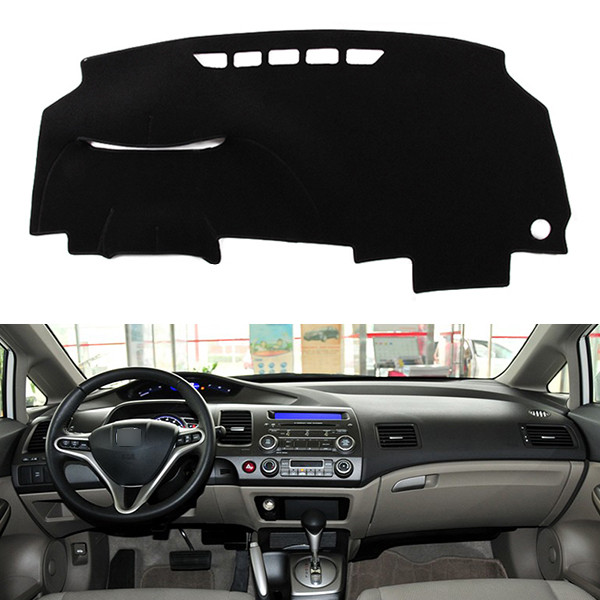 Dashboard Mat Sun Cover Dust-proof Pad Dedicated for Honda Civic 8th 2006-2010