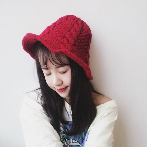 Women Trendy Winter Warm Knitted Wool Causal Cap