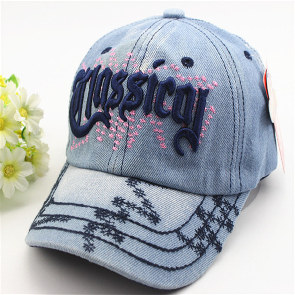 Kids Boys Girls Embroidery Letters Snapback Cowboys Caps Adjustable Baseball Hip-hop Hats