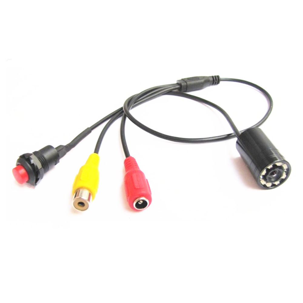 3.6mm 600TVL 1/3 CMOS 90 Degree Infrared Night Vision LED Mini Camera for Diving Waterproof Pipe