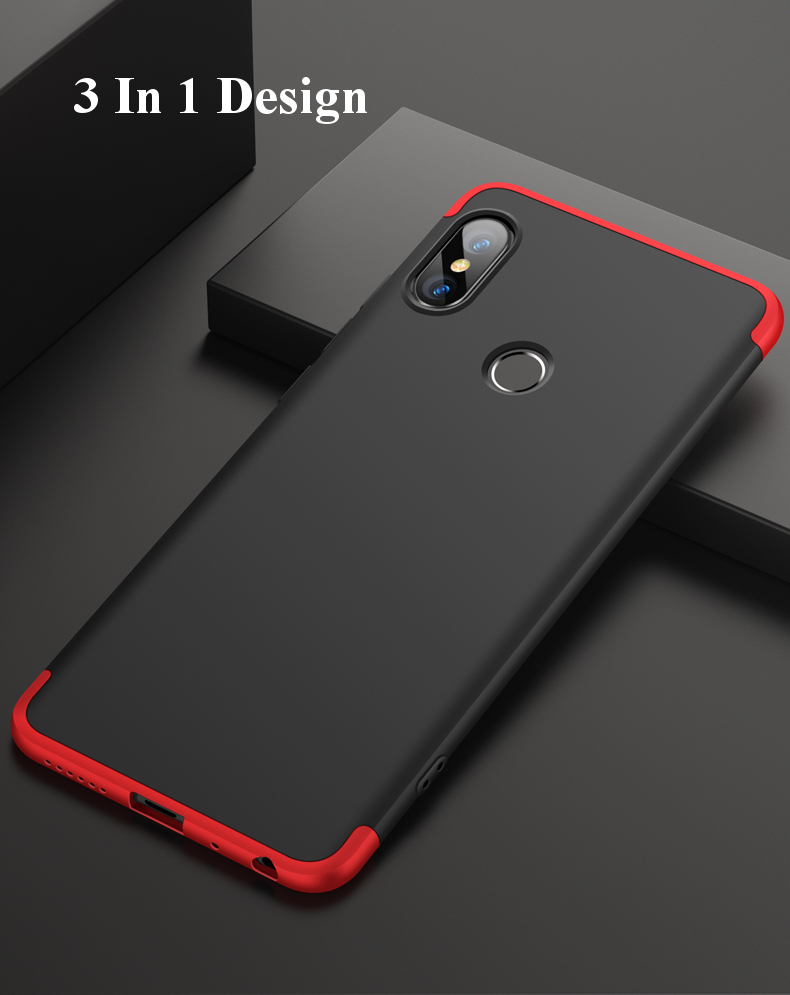 Bakeey™ 3 in 1 360° Full Protective Case+Tempered Glass Screen Protector For Xiaomi Redmi Note 5