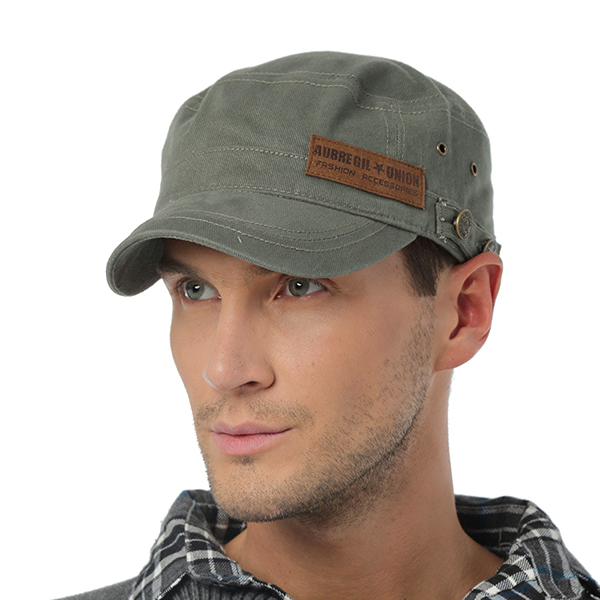 Men Cotton Casual Flat Top Hats Outdoor Army Baseball Snapback Hat Adjustable