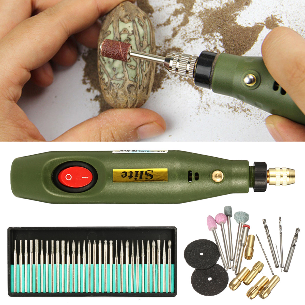 Mini Engraving Pen Electric Engraver Carve Wood Chisel Carving Tools for Wood Glass Jewelery Tools