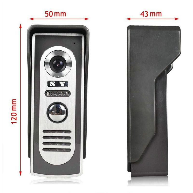 ENNIO SY819M12 7 inch Video Door Phone Doorbell Intercom Kit with 1 Camera 2 Monitors Night Vision