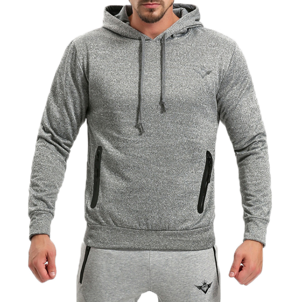 Breathable Solid Color Jogging Fitness Sweatshirts