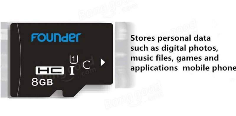 Founder 8GB Class 10 Storage Card TF Card Flash Memory Card for Mobile Phone