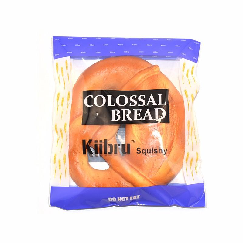 Kiibru Squishy Pretzel Bread 21*18*6cm Super Licensed Slow Rising Fun Gift With Original Packaging