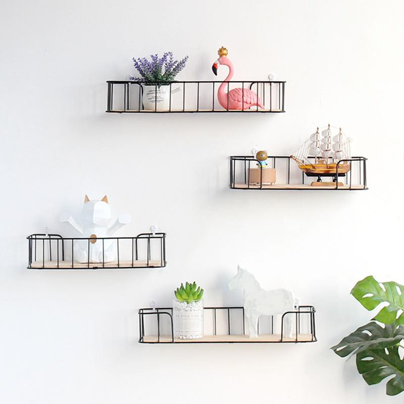 Iron Art Board Shelf Living Room Wall Decorations Storage