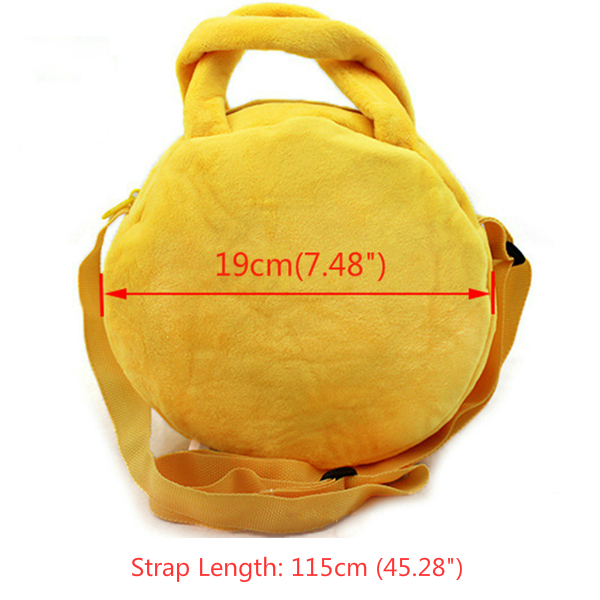 Kids Cute Emoji Emoticons Crossbody Bag Plush Children Shoulder Portable Bags