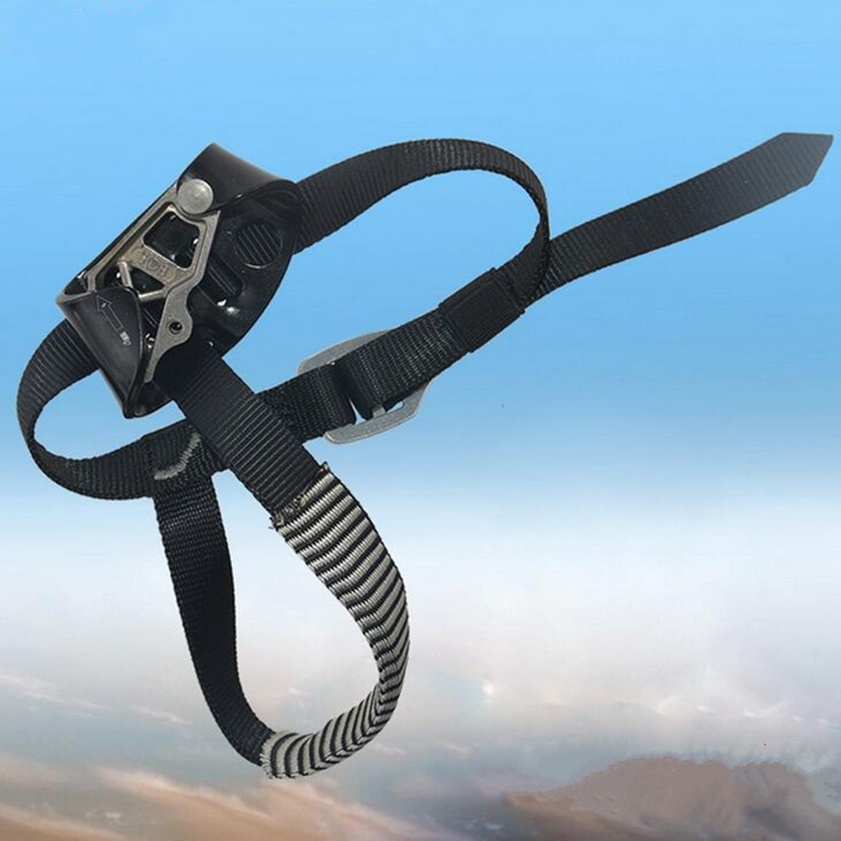 Outdoor Safety Rock Climbing Ascender Mountaineering Foot Buckle Strap Equipment
