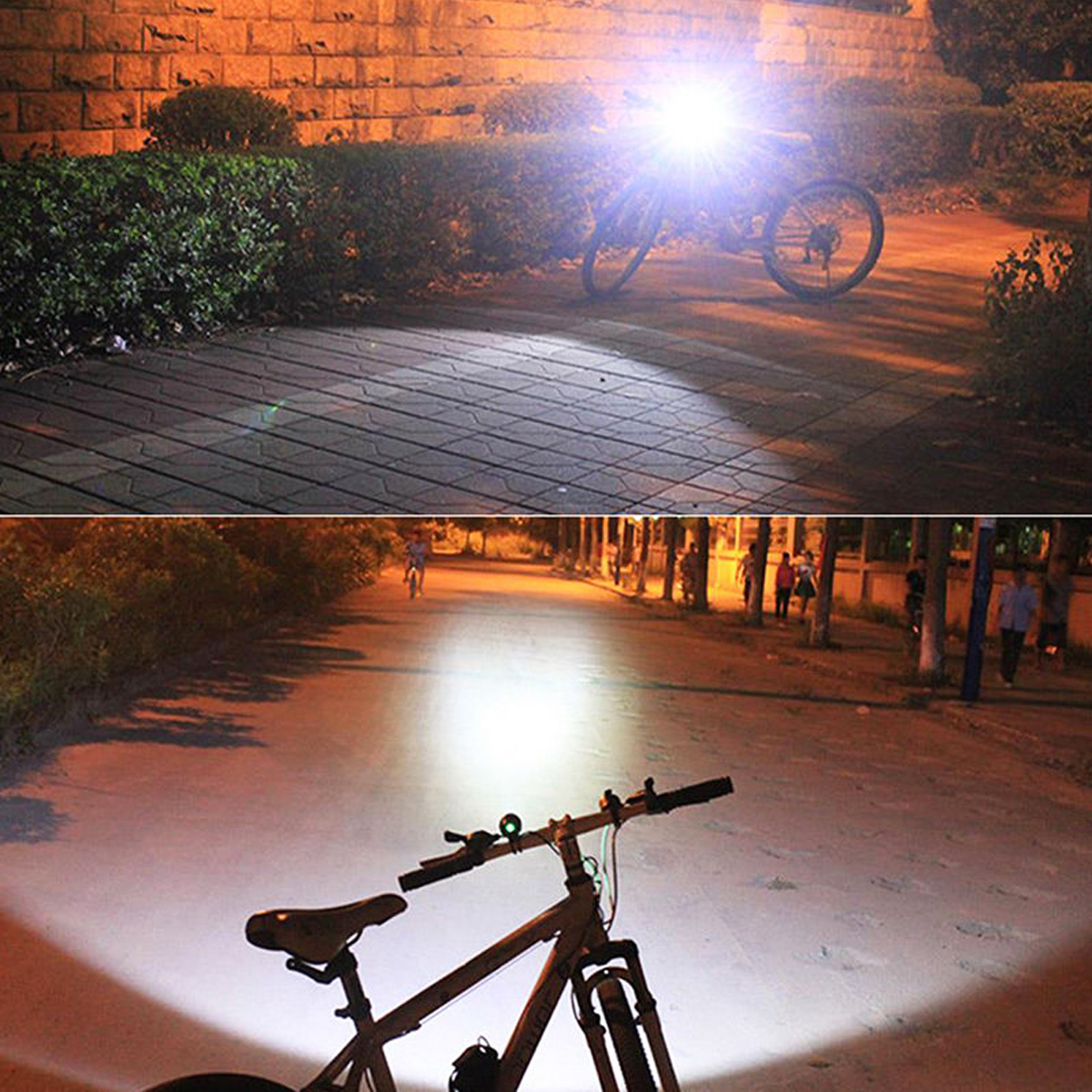 BIKIGHT 3000LM Waterproof T6 USB Power LED Bicycle Front Light Headlamp