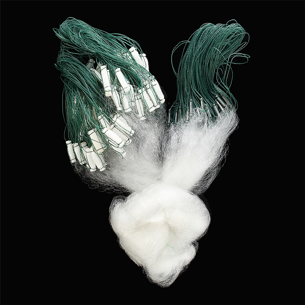 Clear Green White Boat Fishing Net Nylon Float Fish Trap Monofilament small Mesh Gill