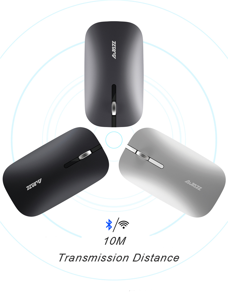 Ajazz i25t Ultra-slim 2.4Ghz Wireless bluetooth Dual Mode 1600DPI Silent Mouse