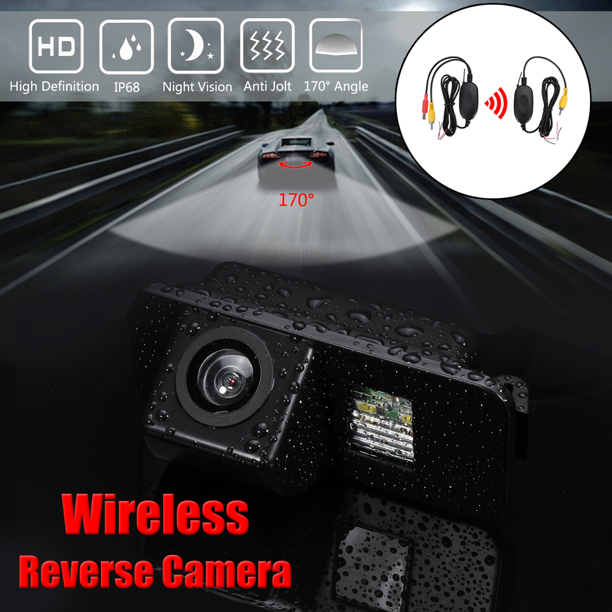 Wireless Car CCD Reverse Rear View Camera for Ford Mondeo Fiesta Focus S-Max Kug