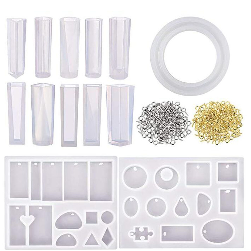 Original 213Pcs Resin Casting Mold Kit Silicone For Necklace Jewelry