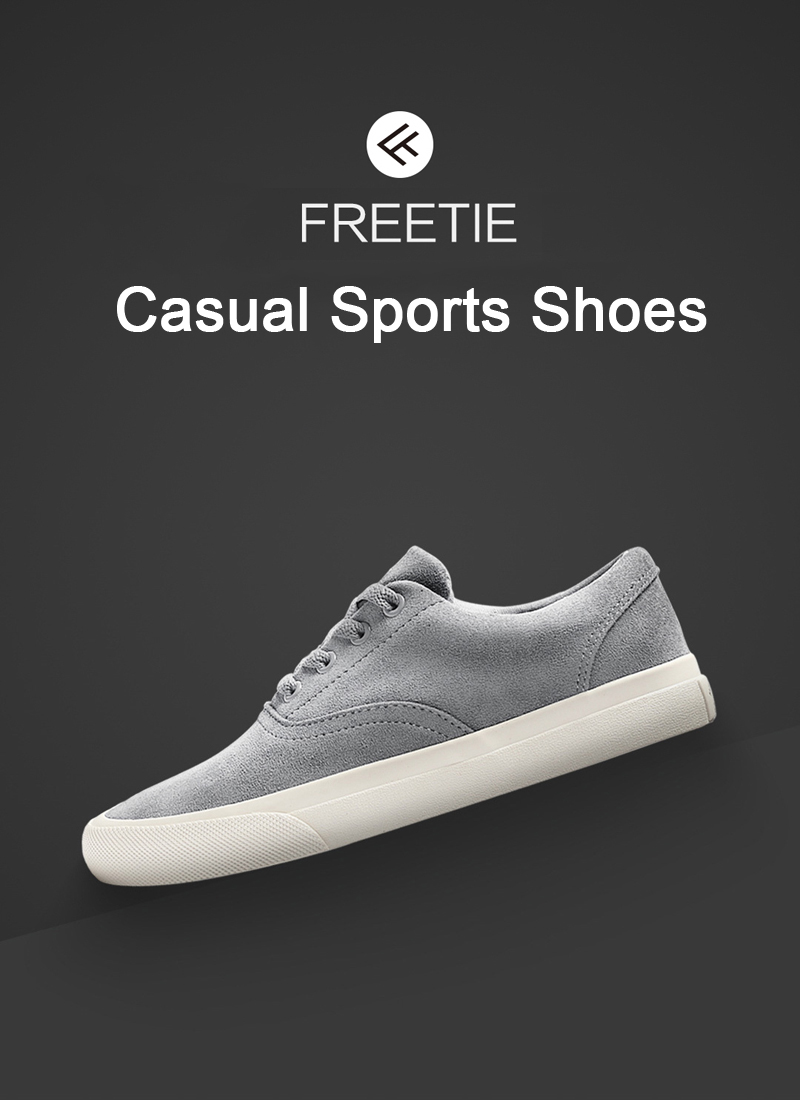 XIAOMI FREETIE Men Sports Casual Shoes Classic Canvas/Suede Leather Shoes Running Sneakers