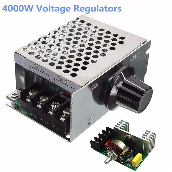 4000W 220V AC SCR Voltage Regulator Dimmer Electric Motor Speed Controller