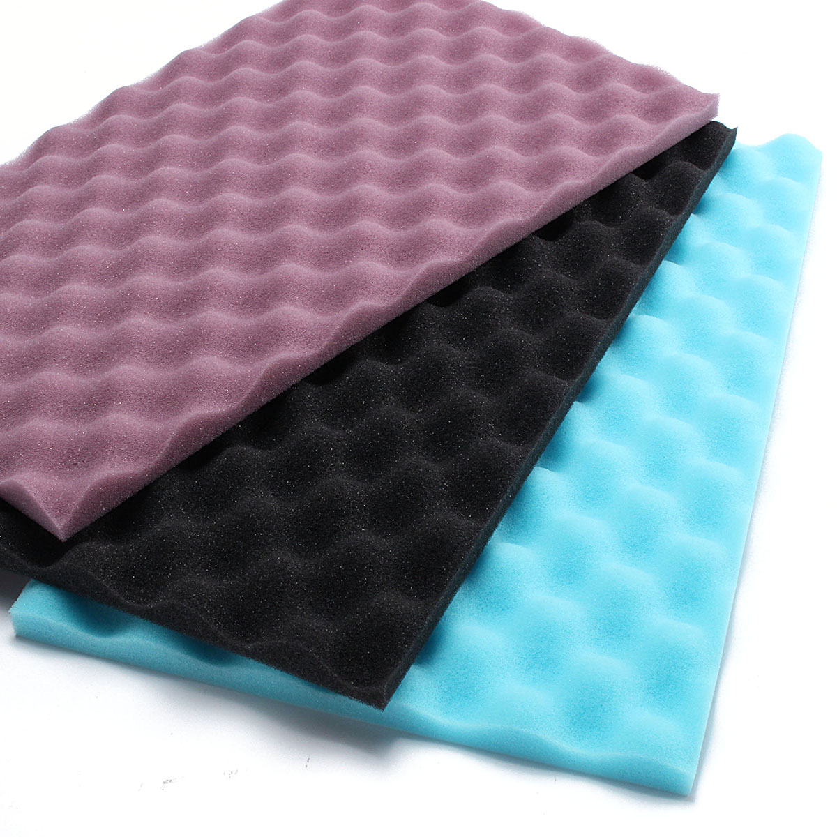 3Pcs 17x11 Inch Aquarium Media Fish Tank Filter Foam Sponge Pads 20mm Thickness