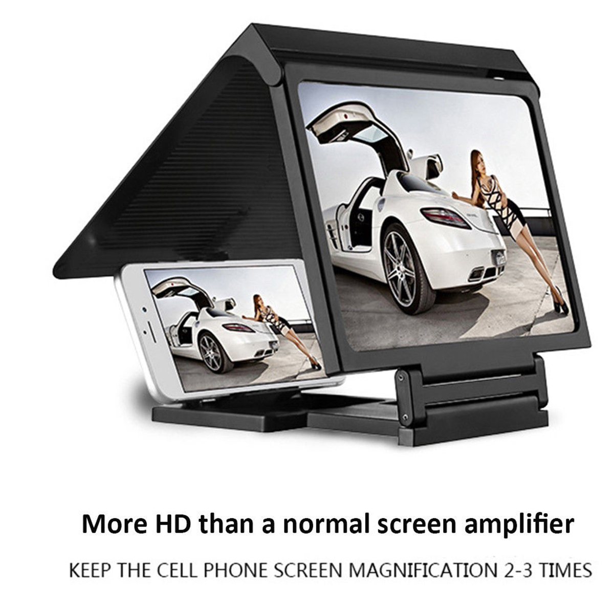 Universal 10 inch HD Clear Image Enlarge Screen Magnifier Desktop Stand Holder for iPhone Xiaomi Mobile Phone