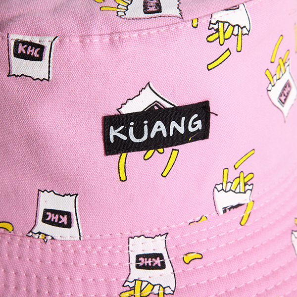 Women Cute Printing Cotton Bucket Hat Casual Bucket Cap