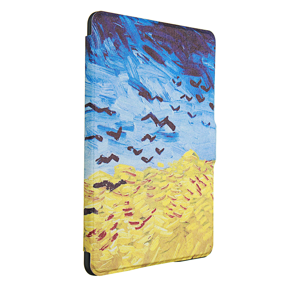 ABS Plastic Crows Painted Smart Sleep Protective Cover Case For Kindle Paperwhite 1/2/3 eBook Reader