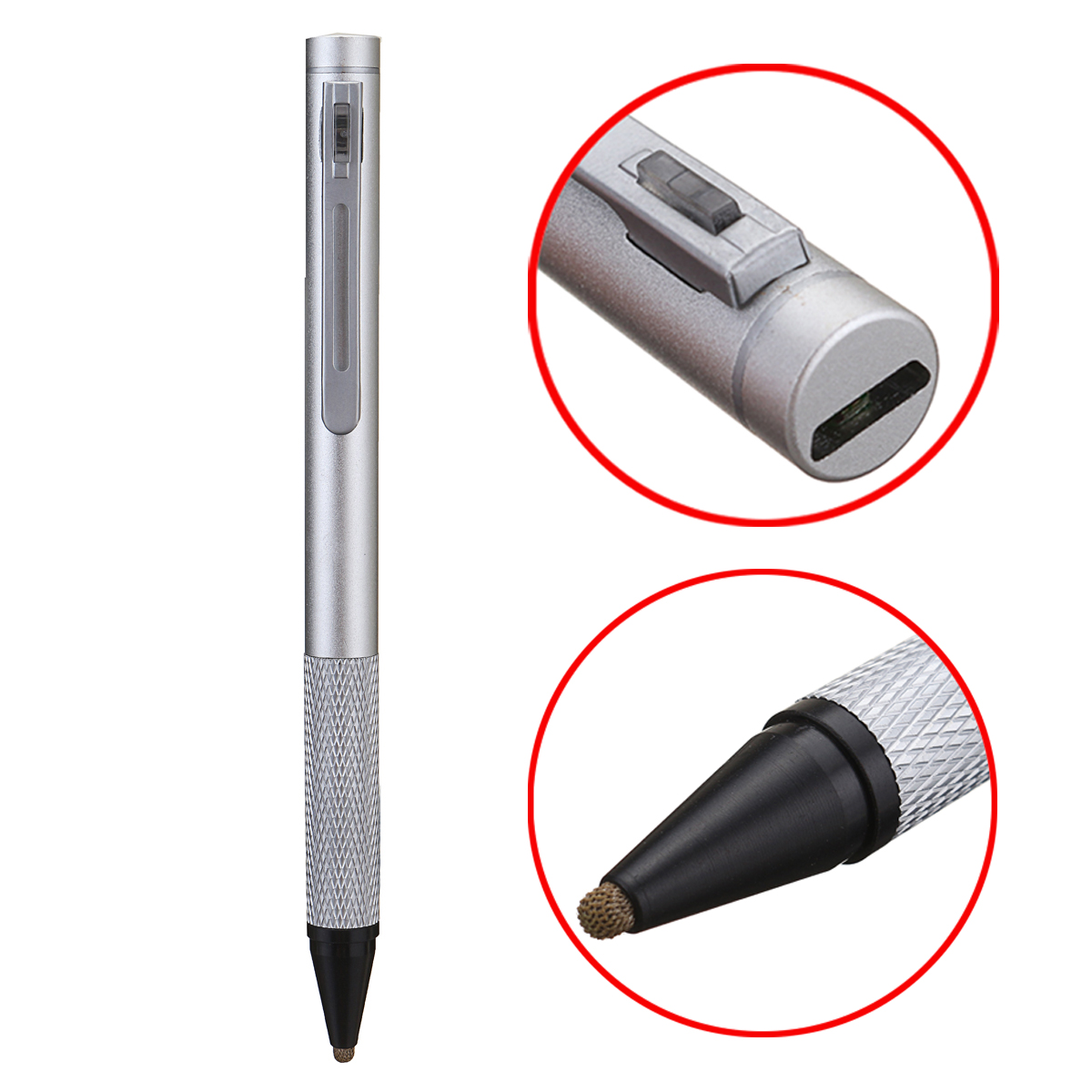 4 Colors Rechargeable 1.9mm Capacitive Active Touch Stylus Drawing Pen