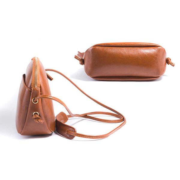 Women Solid Leisure Mini Shell Bags Vintage Phone Bag